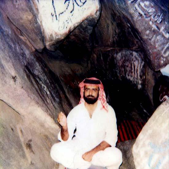 Muhammad Shaikh in Ghar-e-Hira